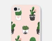 iPhone 6 Case Samsung Galaxy S6 Case Succulent iPhone 6s Case iPhone 6 Plus Case Cactus Phone Case Geometric iPhone 5s Case iPhone 5 Case
