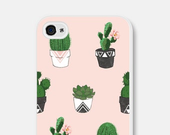 iPhone 6 Case Samsung Galaxy S6 Case Succulent iPhone 6s Case iPhone 6 Plus Case Cactus Phone Case Geometric iPhone 5s Case iPhone 5 Case