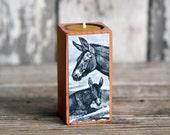 Natural History Candleblock: No. 2, Smokestack Donkey - by Peg and Awl