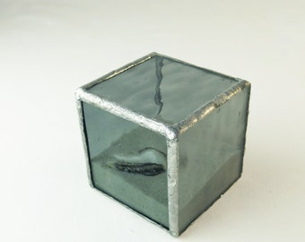 Beach in a Box Stained Glass Sculpture Paperweight