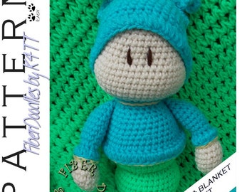 INSTANT DOWNLOAD : Baby's First Plushie - Snuggle Bug & Blanket Set Crochet Pattern