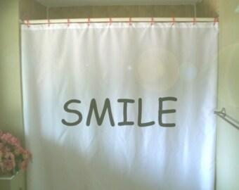 smile Shower Curtain happy day bright start positive optimistic attitude bathroom decor kids bath curtains custom size long wide waterproof