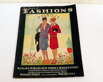 1928 The Book of Fashions Woman's World Spring & Summer Styles Flapper Girl