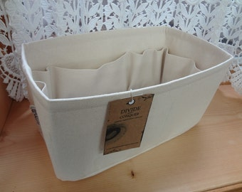 """fits Speedy 35 / Purse ORGANIZER insert Shaper / With stiff bottom & 1 extra option / 13"""" x 6.5"""" x 6""""H /STURDY/color NATURAL / Ready to ship"""
