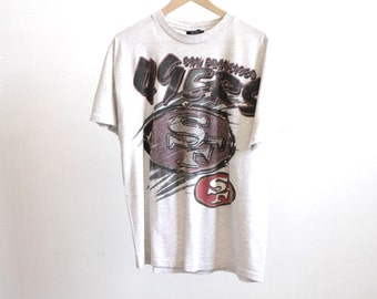 FOOTBALL vintage 90s SAN FRANCISCO 49ERS nfl football 90s t-shirt made in usa