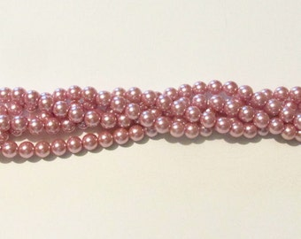 8mm Rose Glass Pearls Trial Size Packs