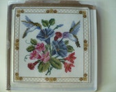 Hummingbird Trivet Cross Stitch Kit - 6x6 Trivet Kit - DIY Cross Stitch Kit New Unopened - Ready To Ship - Buy More Save More Sale