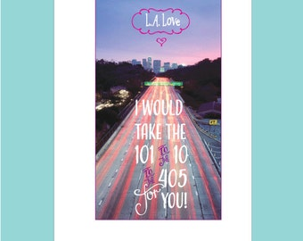 Los Angeles Note Card Set - I Love LA Cards - Greetings from Los Angeles Cards - LA Love Cards - Los Angeles Theme Note Cards