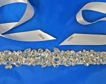 Bridal Sash, Satin  Sash, Bridal Rhinestone Sash, Rhinestone Bridal Belt, Wedding Sash, Bridal Sash