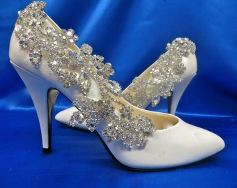 Bridal Shoe Clip- Set of Two-Crystal Shoe Accessory-Rhinestone Shoe Clip