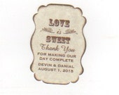 Custom Listing For Devin - 200 Wedding Favor Gift Tags / Place Card Escort Tags / Love Is Sweet / Honey Jam Jar Labels - Vintage Sepia