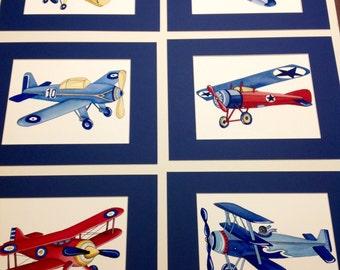 Airplane nursery art - vintage airplane art print - children wall art decor - baby boy nursery wall art kids wall art