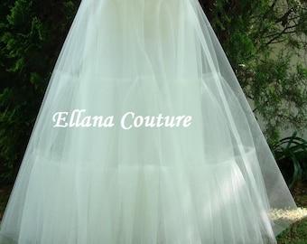 Full Length Crinoline. Medium Fullness Petticoat. Available in Several Colors.