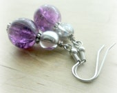 Purple Marble Earrings Fun Gifts for Girls Teens Tweens Birthday Gift for Best Friend Present Token Thank You