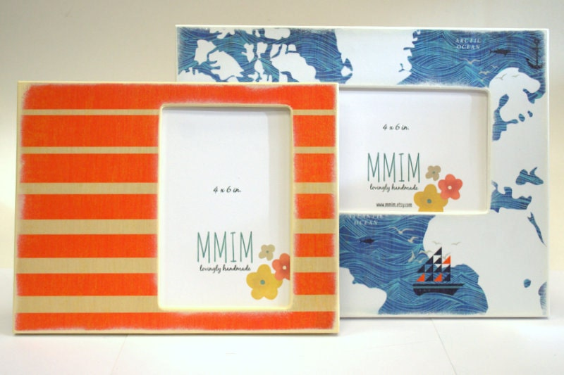 sailor picture frame 4 x 6 frame photo frames nautical. Black Bedroom Furniture Sets. Home Design Ideas