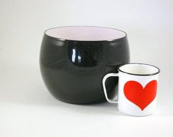 Dansk of Denmark IHQ Enamel Bowl in Black