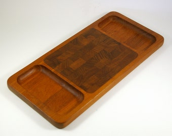 Jens Quistgaard for Dansk of Denmark Staved Teak Cheese Board or Tray