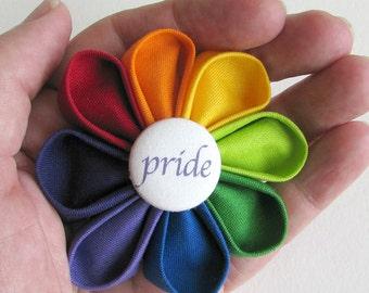 Lapel Pin Rainbow Pride - Kanzashi Pride Boutonniere