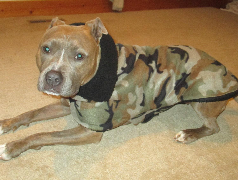 Camo Fleece Sherpa Lined Dog Jacket Dog Jackets Dog Coat