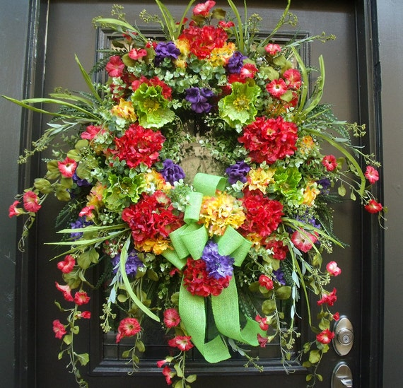 Items Similar To Extra Large Summer Wreath Front Door