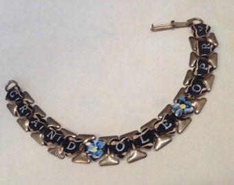 Grand Ole Opry Souvenir Bracelet – Brass Enamel 1930s