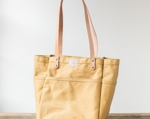 Campus Tote in Dijon Duck Canvas