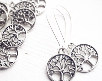 Pick 3-7 Pairs Tree of Life Earrings / Gift Boxed Bridesmaids Gifts Wedding Shower Bridal Party Shower Favors Rustic NatureThemed Sets