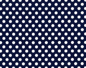 Kiss Dot in Navy - 1 yard - Michael Miller Fabric