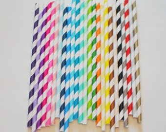 50 Biodegradable Paper Straws with a printable PDF pennant that you can customize.... You choose the colors ... over 40 styles