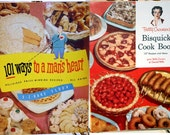 1950s Cook Booklets Pair, 101 Ways to a Man's Heart, Bisquick, E-Z Bake Flour,Vintage Recipes,Comfort Food,Mid Century, Free US Shipping