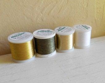 Set Of Four Madeira Metallic Sewing Thread