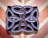 Sale - Lot of 10 Celtic Knot Purple Ribbon Lapel Pins