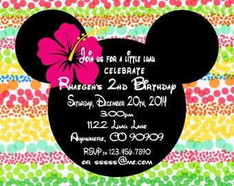 Printable PDF Minnie Mouse Luau