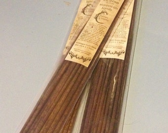 Butter Rum Incense - 20 Sticks - Hand Dipped, Strongly Soaked - Sweet and Smooth Heavily Scented Stick Incense