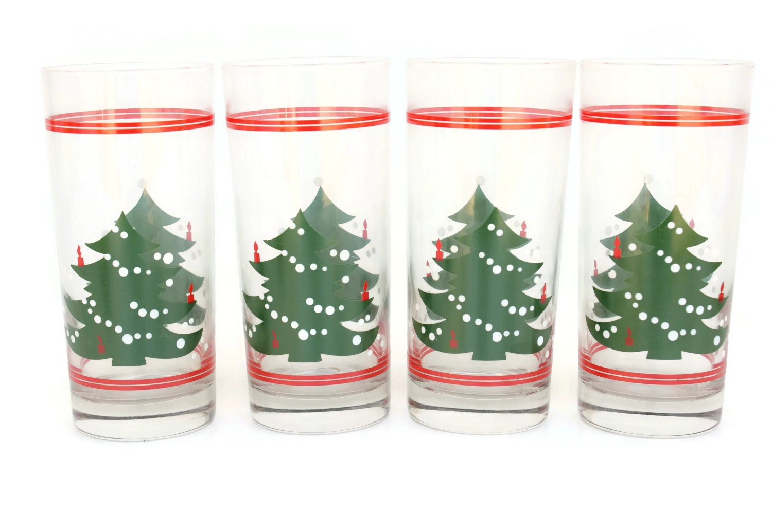 Waechtersbach christmas tree tumblers drinking glasses by