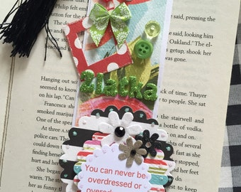 Handmade Personalised Bookmarks with name and favourite quote.