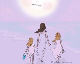 Best Memories Together- Mom and Daughter  Art - Art for Moms - Inspirational Art for Women - Art for girls rooms