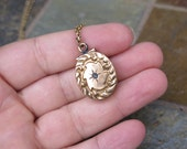 Antique Victorian Etruscan Gold Filled Pendant Locket Star Design