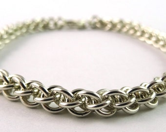 Sterling Silver Jens Pind Chain Chainmaille Bracelet