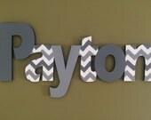 Les garçons personnalisé nom signe - pépinière mur lettres nom signe - murale en bois lettres Boy Style