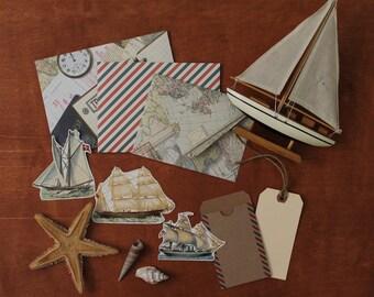 Nautical Destinations - Handmade Envelope Treasury Set