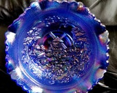 Vintage Windmill Iridescent Amethyst Smith Glass Company Bowl
