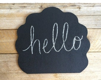 Vintage Cloud Shaped Handheld Chalkboard // Photo Prop // Photo Booth // Home Decor