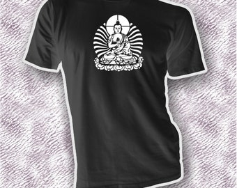 Meditation Female Buddha unisex adult shirt, Buddhism clothing gift idea him her, OM tee, ideal of enlightenment shirt, feminine power tee