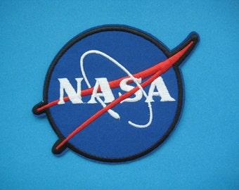 SALE~ Iron-on Embroidered Patch NASA 4 inch