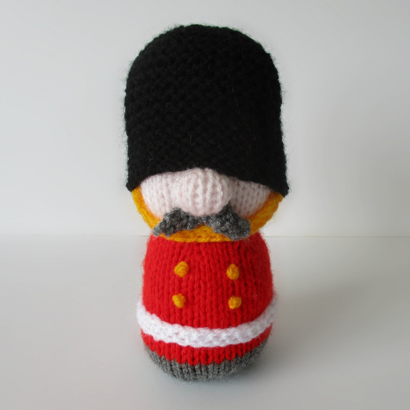 Sergeant Major Busby toy soldier knitting patterns by ...