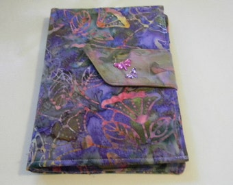 Lavender Floral Batik Kindle Fire/Keyboard Cover