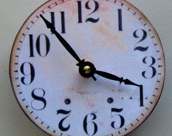 Wall clock. Small wall clock. Vintage clock. Mid century clock. Republica of vintage clock. Modern Vintage II.