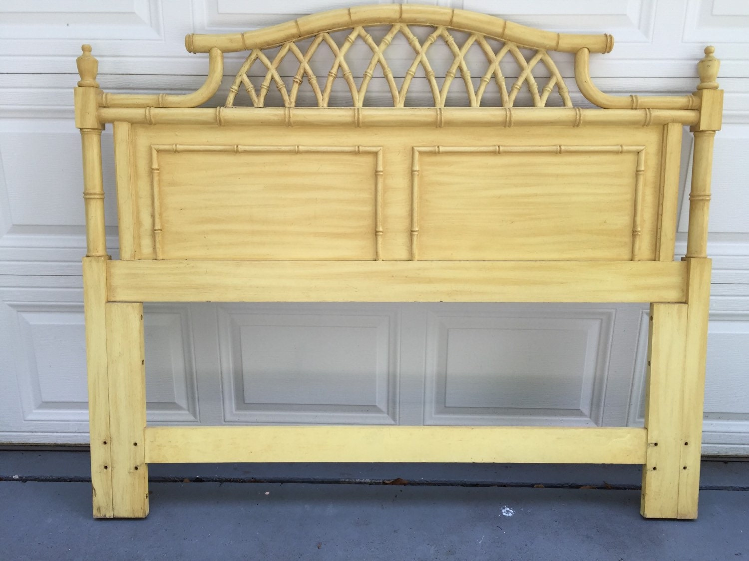 Queen Pagoda Headboard Mid Century Chinoiserie Faux Bamboo Headboard Full Size Style Hollywood Regency Palm Beach Style At Modern Logic Haute Juice