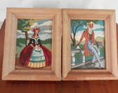 Paint by numbers Woman and Man Regency Style set of 2 paintings